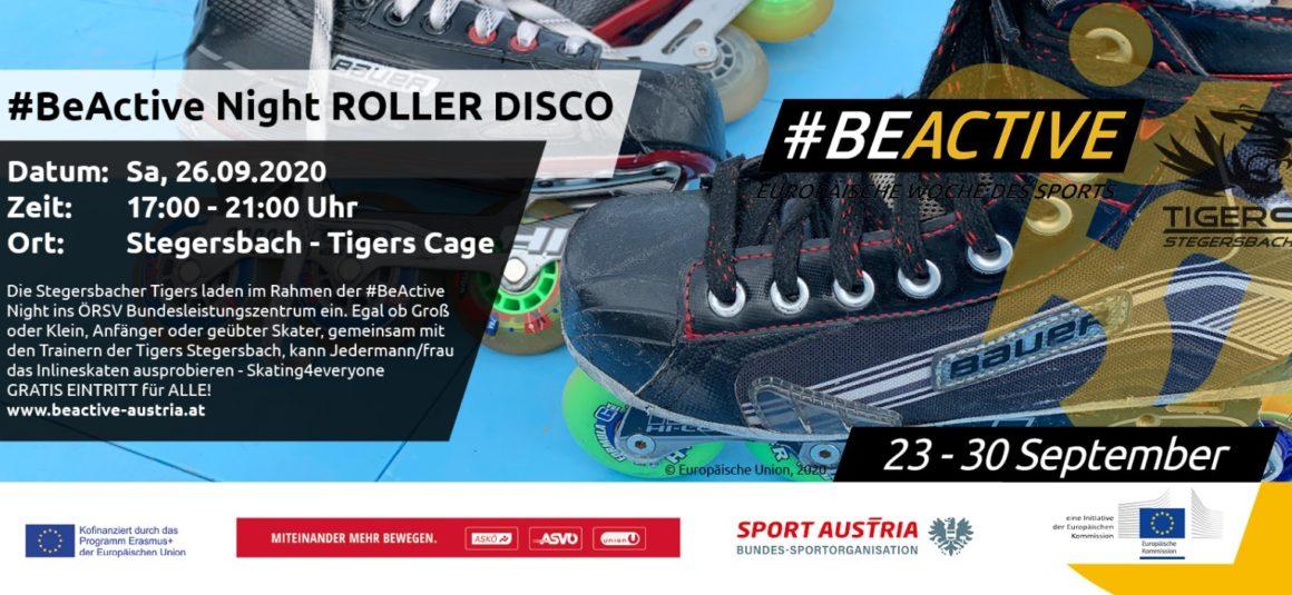 #BeActiveNight: Rollerdisco im Tigers Cage